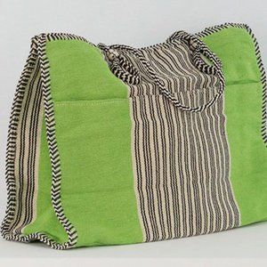 Tote XL Jute Cotton with Pockets